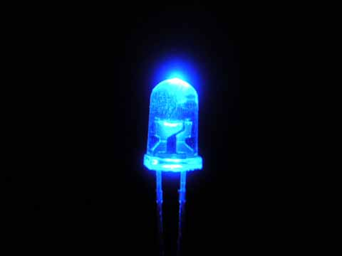 Blue led lights
