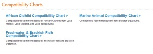 Aquatic Article Archive Compatibility Charts