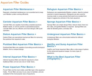 Aquatic Article Archive Filter Guides