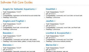 Aquatic Article Archive Saltwater Fish Guides