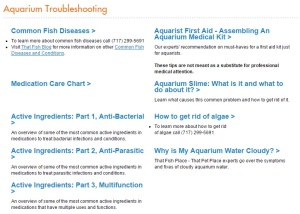 Aquatic Article Archive Troubleshooting