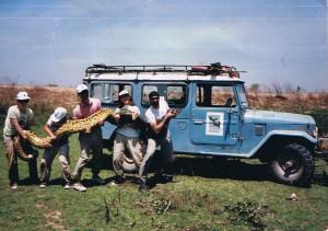 Anaconda by truck