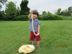 Budding Zoologist with Rat Snake